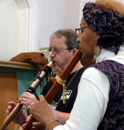 Terry and Kathleen Duet at Flute Haven 2009